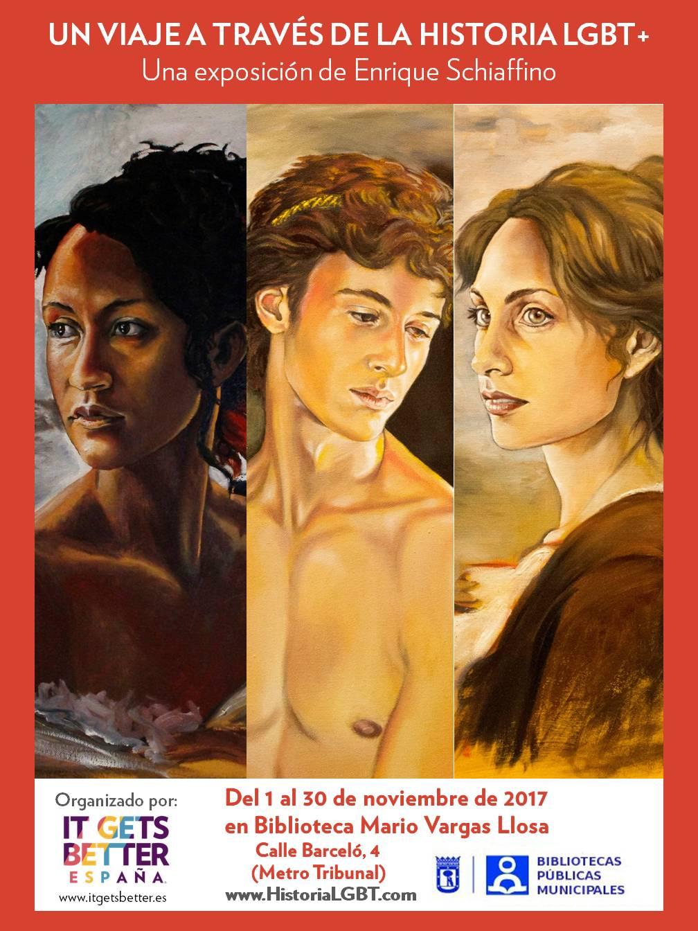 Un viaje a traves de la historia LGBT - Exposicion Noviembre 2017 - Biblioteca Madrid JPG